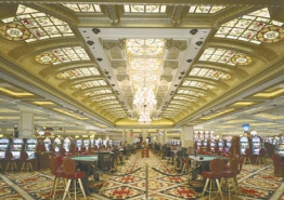 This grand lit ceiling at Niagara Fallsview Casino Resort illuminates the gaming floor and provides ambience.