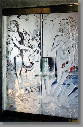 This exquisite and graceful door set, dividing a whirlpool from an indoor swimming pool, makes the relaxation doubly rewarding.  Leda recognizes a deceitful Zeus masquerading as a swan and resists his advances. A beautiful and vibrant Venus catches the imagination of Diana.